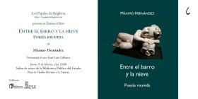 Tarjeta de invitación a la presentación de 'Entre el barro y la nieve', de Máximo Hernández