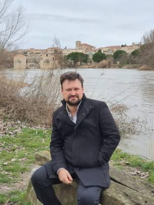 Pedro Calbarro en Zamora, en febrero de 2021